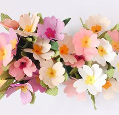 Paper Primrose flowers by A Petal Unfolds