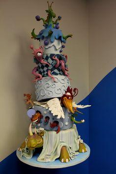 A very whimsical cake.....