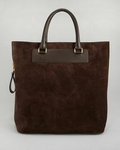 Tom Ford Suede Side-Zip Tote Bag - Neiman Marcus