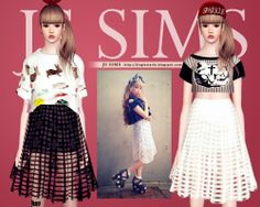 My Sims 3 Blog: Transparent Grid Skirt by JS Sims 3
