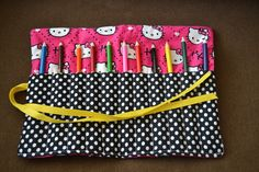 Life as Mrs. Emerson: September Sewing Projects.  Sew a Colored Pencil Roll Up
