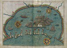 Piri Reis'in Venedik haritası.