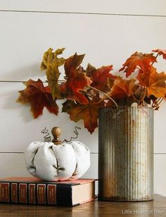 rustic painted fabric pumpkins, chalk paint, crafts, home decor, seasonal holiday decor