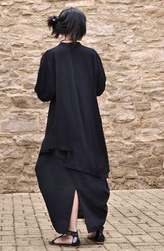 Veronica Jacket in Black Papyrus Passion For Fashion, Love Fashion, Fashion Beauty, Womens Fashion, Vetements Clothing, Black Wardrobe, Androgynous Fashion, Japanese Fashion, Dress Patterns