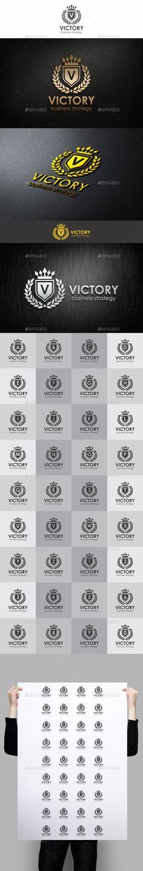 Victory Heraldic Elegant Logo — Vector EPS #royalty #restaurant • Download here → https://graphicriver.net/item/victory-heraldic-elegant-logo/1409895?ref=pxcr