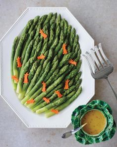 Ham and asparagus are a perfect spring pair, add in carrot cut-out bunnies to make this the ultimate Easter side.