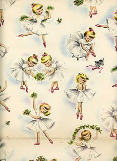 free vintage ballerina printables | Very Merry Vintage Syle: Vintage Wrapping Paper {A Gift of Inspiration ...