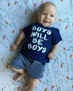 Kids tee graphic tee boys will be boys kids by LattesnLittles