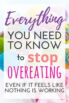 Everything You Need to Know to Stop Overeating Is it possible to live in a place where you are consistently overcoming overeating? This ultimate resource guide will help give you tips and ideas to stop overeating, binge eating, and emotional indulgence! Binge Eating, Stop Eating, Clean Eating, Stress Eating, Protein Shakes, High Protein, Healthy Shakes, Fast Weight Loss, Weight Gain