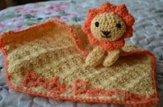 Lion blanket buddy crochet toy