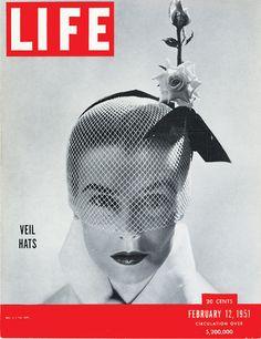 LIFE Magazine, February 12, 1951: Veil Hats