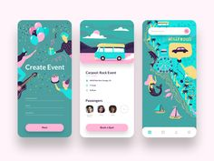 App for Organizing Custom Events by Topflight Apps on Dribbble Best Picture For Web Design trends Fo Mobile Ui Design, App Ui Design, Interface Design, Branding Design, Interface App, Android App Design, Flat Web Design, Web Design Trends, Event App