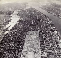 """archimaps: """"Aerial view of the Island of Manhattan, New York City """" Architecture Mapping, New York Architecture, New York Pictures, Time Pictures, Map Of New York, New York City, New York Snow, New York Wallpaper, Central Park Nyc"""