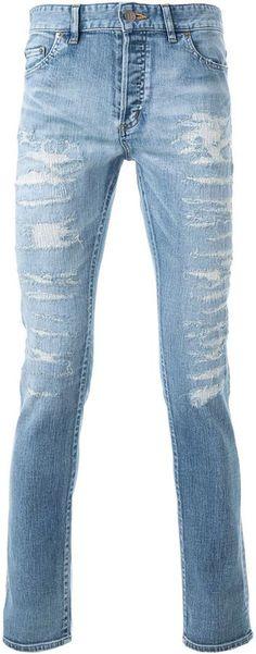 Hl Heddie Lovu distressed skinny jeans Distressed Skinny Jeans, Indigo, Women Wear, Just For You, Stylish, Fashion Design, Shopping, Tops, Indigo Dye