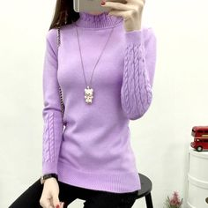 Women Crochet Solid Turtleneck Neck Sweater Fashion Knitted Brife Pullover Sweaters Ladies Autumn Knitwear Outfit Tops  #love #beautiful #beauty #cute #stylish #ootd #cool #styles #instafashion #glam