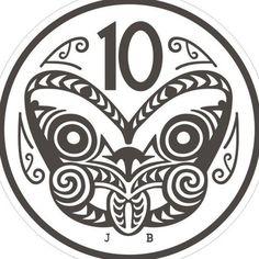 New zealand 10 cent coin tiki retro kiwiana cross stitch pdf etsy new zealand native art new zealand native bird Irezumi Tattoos, Marquesan Tattoos, New Zealand Tattoo, New Zealand Art, Thai Tattoo, Key Tattoos, Skull Tattoos, Foot Tattoos, Sleeve Tattoos