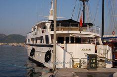 Yacht charter Turkey holidays - Ma Biche Motor Yacht in Marmaris harbor