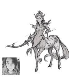 @artcrazygirl_sammi as a centaur. Daily #character #sketch #art