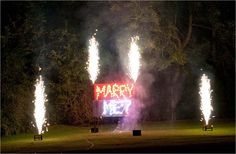 'Marry Me' Firework lancework. Halo Fx