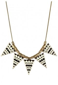 Triangle Enamel Necklace