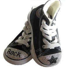 Swarovski Rock Star Converse Sneakers, bling kids shoes, swarovski converse sneakers