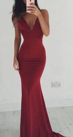 e27dd9a830 Sex Simple Mermaid Long Prom Dress