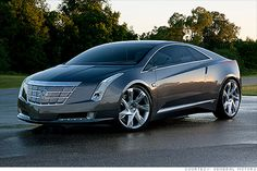 GENERAL MOTORS THE CADILLAC ELR | gm.com (http://cnnmon.ie/S1IgAx) An electric coupe with plug-in technology as the Chevy Volt. • It's by far the sexiest modern car! I wish all hybrids and e-cars would have sophisticated style; hate it when they compromise the look from its technical making.