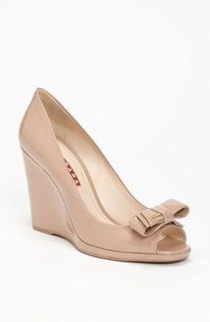 e4babc43858 Shop Women s Prada Wedge pumps on Lyst. Track over 40 Prada Wedge pumps for  stock and sale updates.