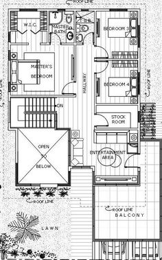 Contemporary 19 - House Designer and Builder 2 Storey House Design, Two Storey House, Modern House Floor Plans, Dream House Plans, Philippines House Design, Philippine Houses, Floor Layout, Villa Design, Architecture Plan