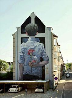 "by bezt_etam — ""Meeting her parents"" Aalborg, Denmark Thanks to Kirk Gallery @gallerikirk"