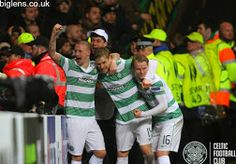 Celtic v Inter Milan, 19/02/2015. Stuart Armstrong scored a double within 60 seconds!