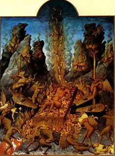 """The Limbourg Brothers: """"Hell"""" from """"Tres du Duc de Berry."""" 1416."""