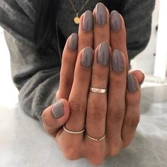 Nails dark grey nail polish gel manicure ideas for women Manicure Colors, Fall Nail Colors, Nail Manicure, Manicure Ideas, Manicures, Dark Colors, Fall Nail Ideas Gel, Nail Ring, Spring Colors
