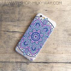 "Copy of Clear Plastic Case Cover for iPhone 6 (4.7"") Dakota Mandala"