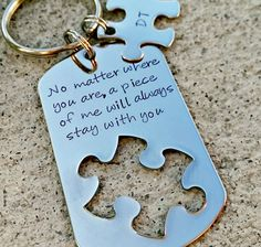 No matter where you are - Couples Keychains - Anniversary Gift - Wedding Gift - Men's Keychian- Long Distance Relationship - Always with you