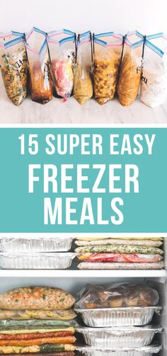 These aren't just easy dinners - they are easy MAKE AHEAD dinners. These 15 freezer meals will cut your time and work in half for your family's meals this week!! #easy #freezermeals #makeahead #easyfreezermeals #mealprep | happymoneysaver.com Vegetarian Freezer Meals, Chicken Freezer Meals, Freezable Meals, Freezer Friendly Meals, Make Ahead Freezer Meals, Vegetarian Recipes Dinner, Freezer Cooking, Easy Family Meals, Freezer To Crockpot Meals