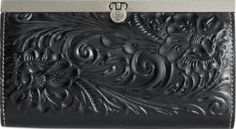 Patricia Nash Tooled Cauchy Wallet - B Leather Tooling, Leather Wallet, Play The Video, Minimalist Bag, Photo Today, Patricia Nash, Vegetable Tanned Leather, Handbag Accessories, Door Handles