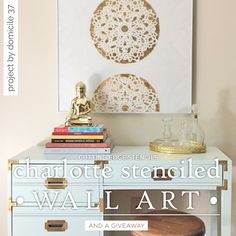 DIY Gold Leaf Stenciled Wall Art - step by step instructions with photos show how to create canvas wall art by stenciling with craft paint, then Mod Podge, adding gold leaf, then sealing. Love the delicate doily look! Stencil Wall Art, Leaf Stencil, Stencil Diy, Diy Wall Art, Diy Art, Canvas Wall Art, Stencils, Stencil Patterns, Wall Patterns