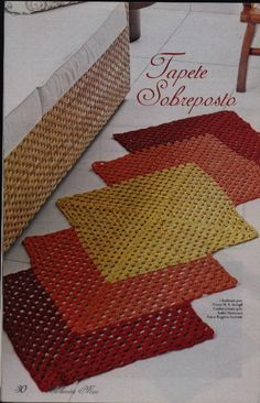 de tapetes de barbante_Pesquisa do Baidu Crochet Mat, Crochet Rug Patterns, Crochet Carpet, Crochet Home, Irish Crochet, Crochet Doilies, Crochet Stitches, Yarn Crafts, Diy And Crafts