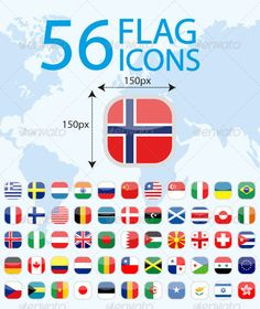 56 World Flags