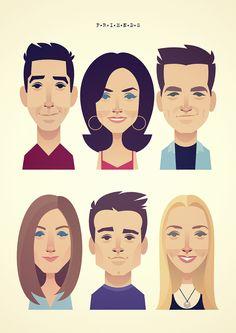 stanleychowillustration Friends Scenes, Friends Cast, Friends Season, Friends Show, Just Friends, Stanley Chow, Friends Sketch, Animation Classes, Chibi Marvel