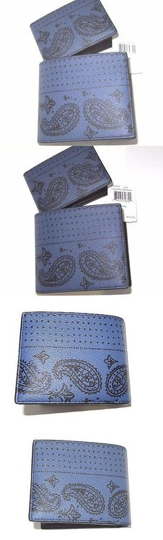 Wallets 2996: Coach Mens F57653 3-In-1 Id Wallet Indigo Blue And Black Bandana Leather Nwt $175 -> BUY IT NOW ONLY: $62.49 on eBay!