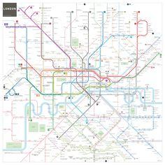 'London tube map' Art Print by Jug Cerovic Metro Subway, Subway Map, London Tube Map, London Map, London Places, Underground Map, Metro Map, Framed Prints, Art Prints