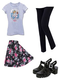 """Adorable blue black and pink outfit"" by zoeypie on Polyvore featuring Pilot"