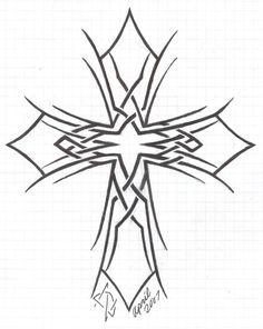 tribal cross tattoos | My Tribal Cross by Ecs-Graphics on deviantART