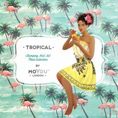 MoYou-London ❀ ✿ TROPICAL COLLECTION ❀ ✿ [Friday Release] Stamping Nail Art, Stamping Plates, Nail Art Designs Images, Nail Stencils, London Nails, Image Plate, Tropical, Nail Plate, Almond Nails