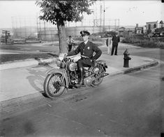 Metropolitan police officer on motorcycle in Washington, D.C., 1932.