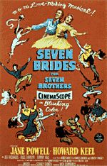 """Seven Brides for Seven Brothers"""" Starring Jane Powell and Howard Keel is the all time best musical ever. Watch it at least once a year and phone my Mom to tell her. Old Movies, Vintage Movies, Great Movies, Amazing Movies, Classic Movie Posters, Classic Movies, Howard Keel, Jane Powell, Brothers Movie"""
