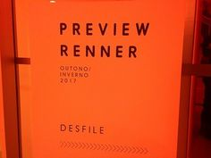 Preview Renner Outono/Inverno 2017