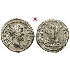 Römische Kaiserzeit, Septimius Severus, Denar 201, ss+: Septimius Severus 193-211. Denar 20 mm 201 Rom. Kopf r. mit Lorbeerkranz… #coins